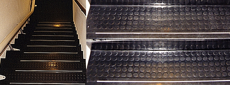 Rubber voor traptreden