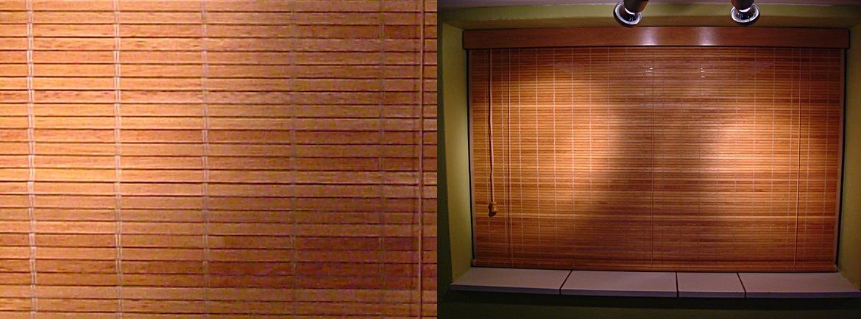 Rolgordijn hout