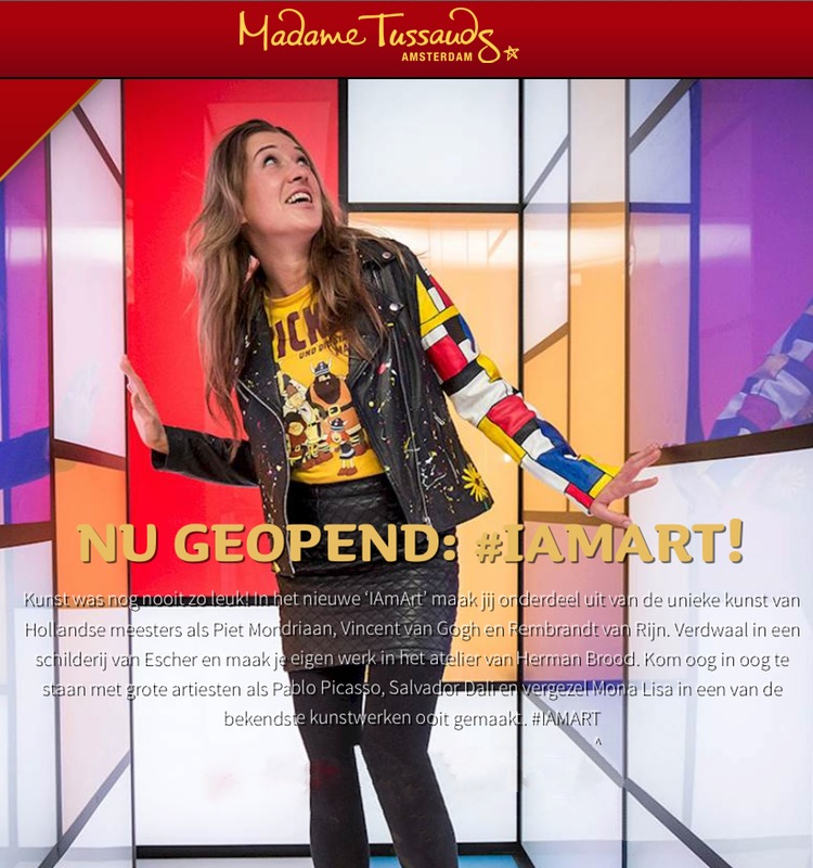 PVC vloer bij Madame Tussauds, set Dutch Masters I Am Art